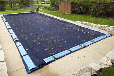 Rete raccogli foglie per copertura invernale per piscina interrata